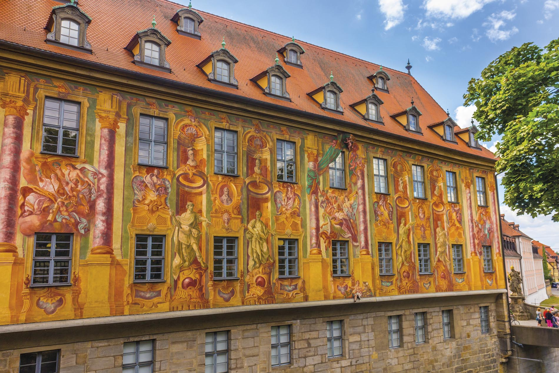 The romanesque artchitecture of Bamberger Dom - Bamberg, Germany