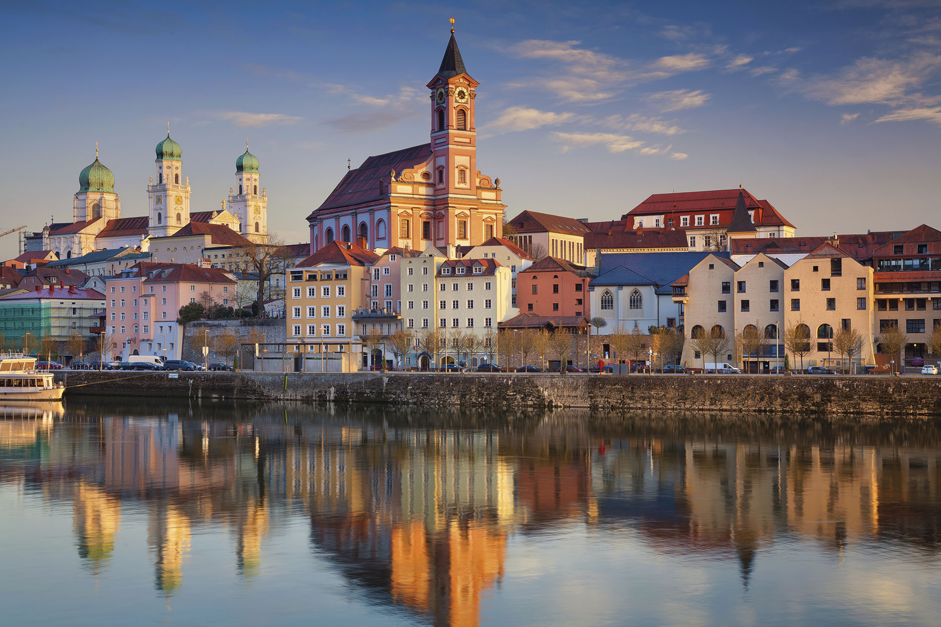 The tranquil waters of Passau, Germany