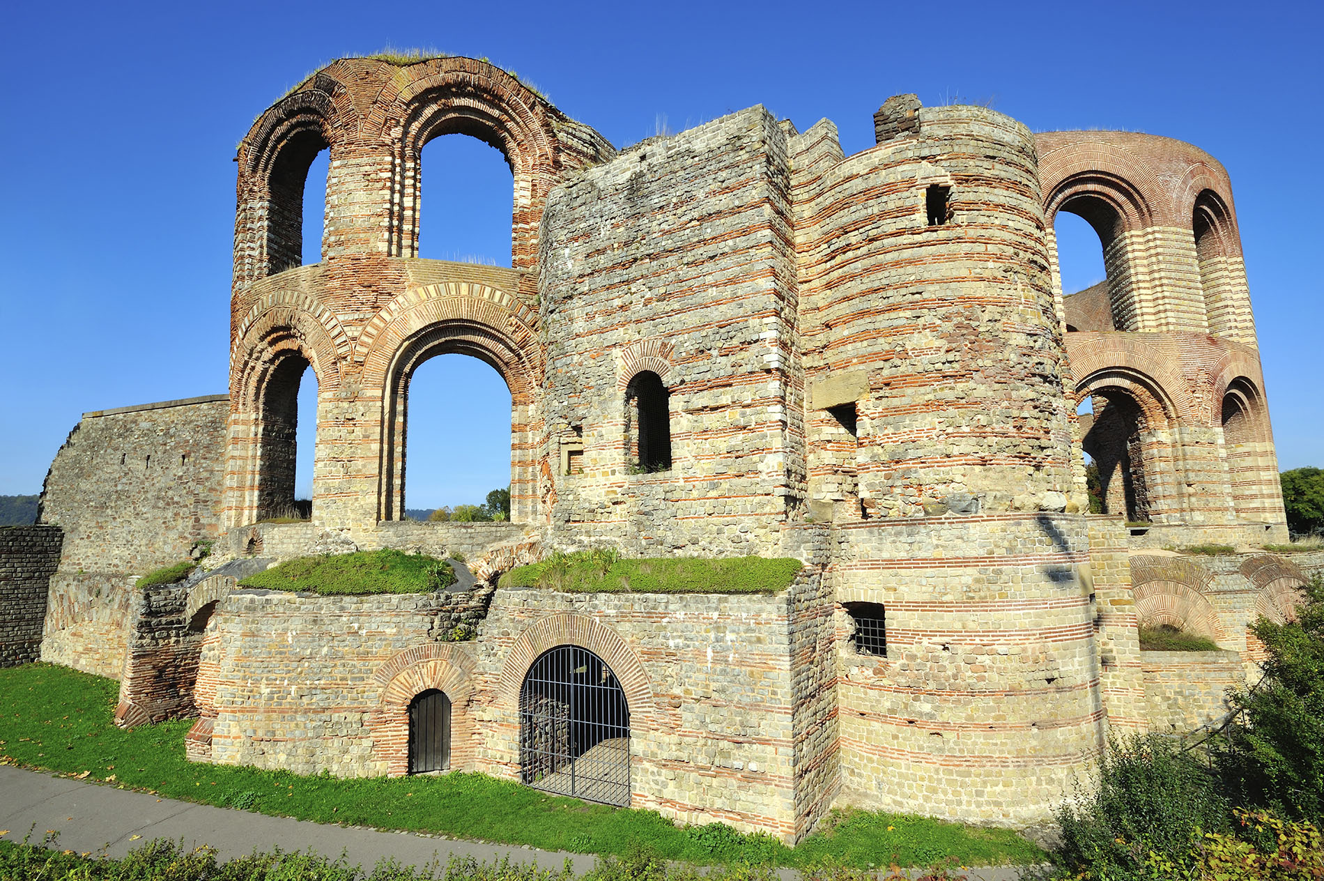 Historic ruins in the city of Trier, Germany