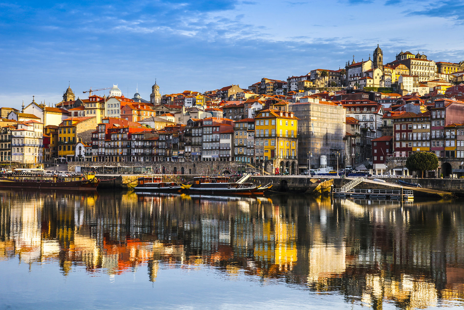 Porto lining the banks of the Douro