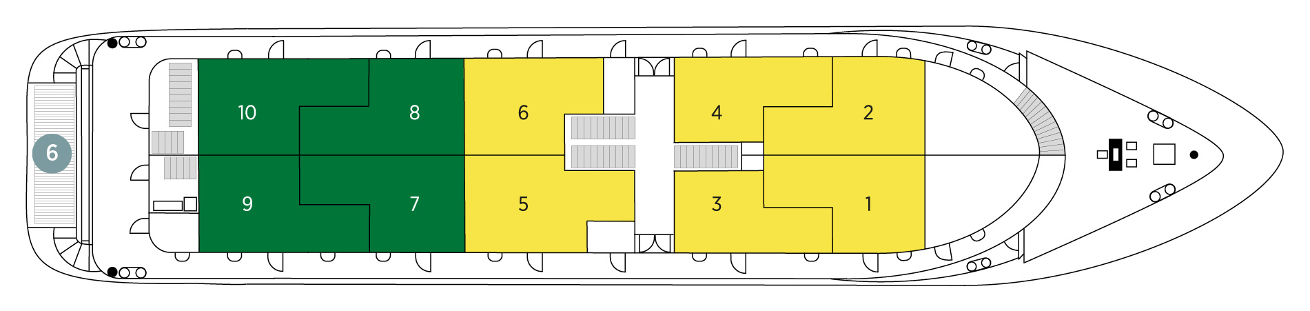 Adriatic Pearl Middle Deck plan