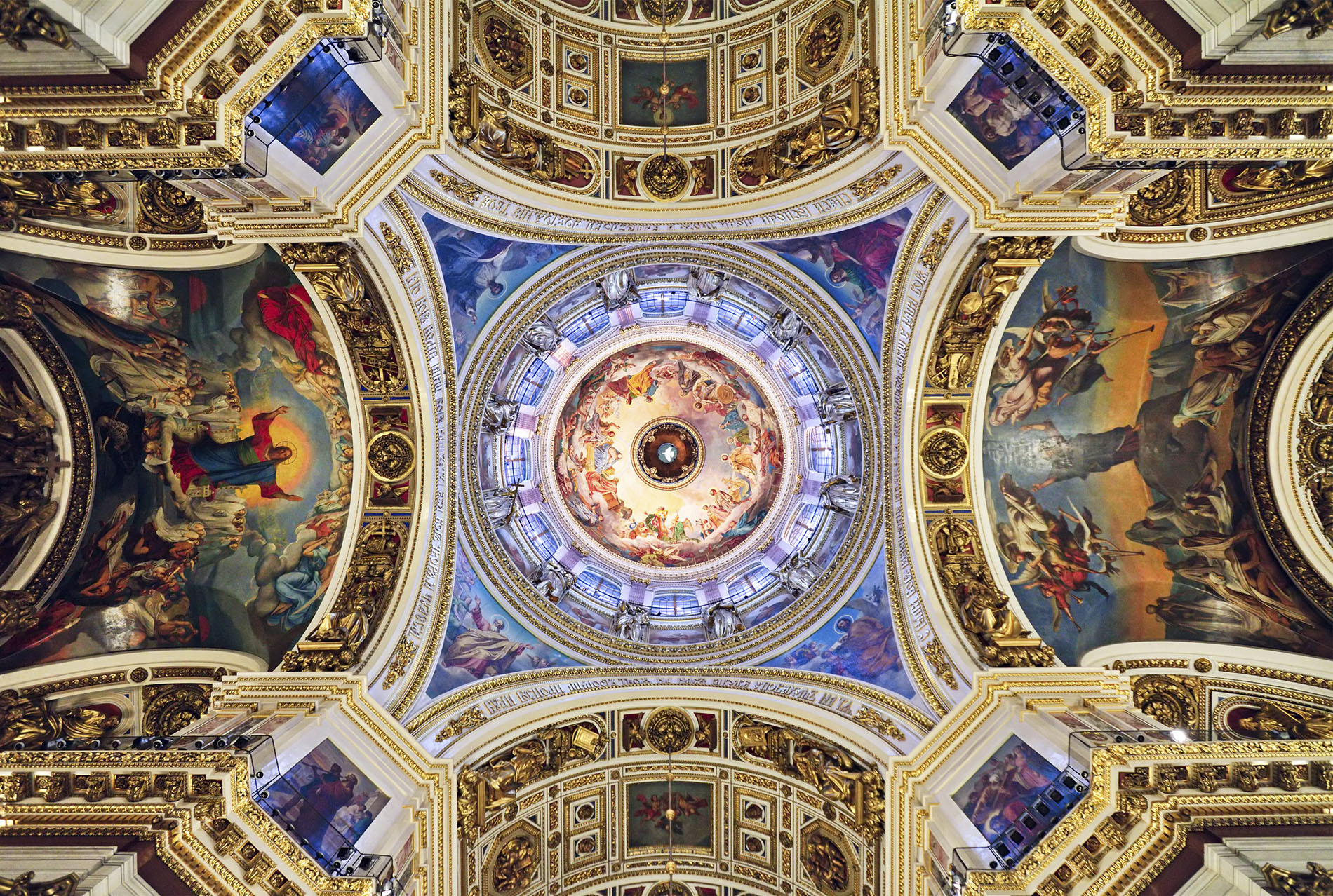 St Isaac's Cathedral ceiling art in St Petersburg, Russia