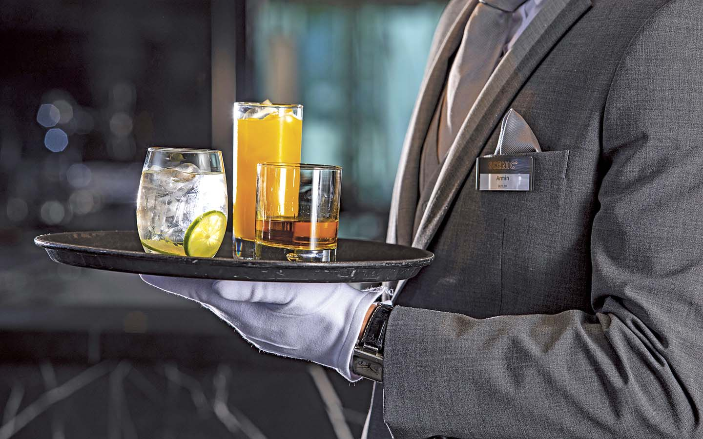 Complimentary Drinks & Butler Service